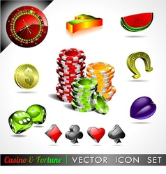 Casino and fortune theme vector