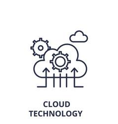 cloud technology line icon concept cloud vector image