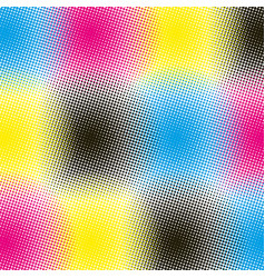 Cmyk halftone rounds background vector