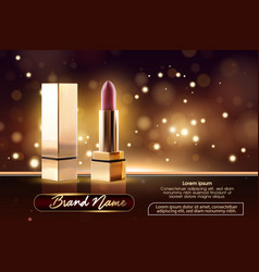 cosmetics beauty series ads of premium female vector image