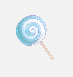 cute cartoon lollipop icon vector image