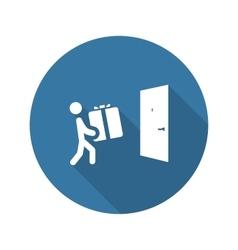 Door Delivery Icon Flat Design vector