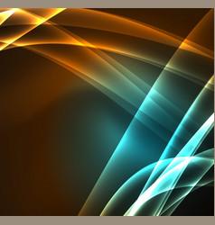 Energy lines glowing waves in the dark vector