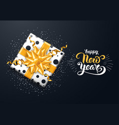 festive new year greeting card vector image