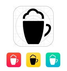 Foam Coffee icon vector image