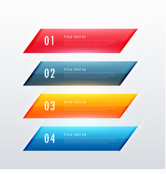 four steps colorful infographic banner design vector image