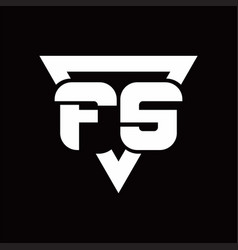fs logo monogram with triangle shape rounded vector image