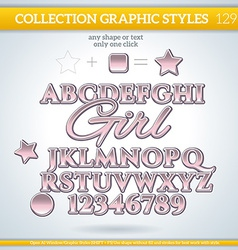 Girl Graphic Style for Design vector