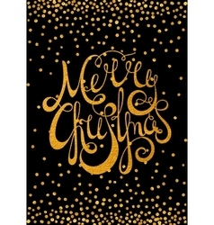 gold calligraphic inscription merry christmas vector image