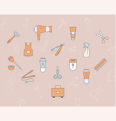 hair salon icons 04 vector image