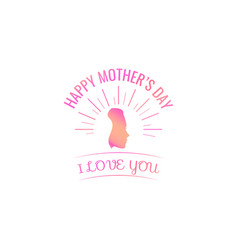 happy mother s day woman s silhouette in beams vector image