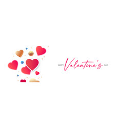 happy valentines day congratulation design with vector image