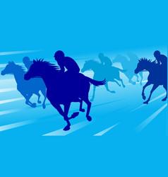 Horse race silhouette vector