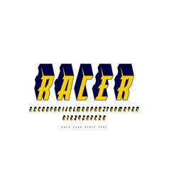 italic serif bulk font in sport style vector image