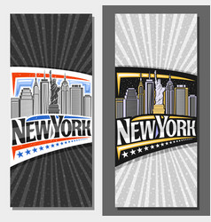 Layouts for new york city vector