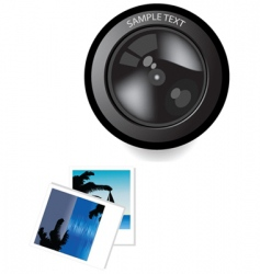 Lens and photo vector
