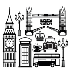 london icon vector image