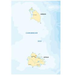 Map caribbean islands antigua and barbuda vector