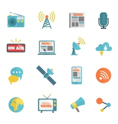 Media Flat Icons vector image