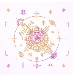 Modern thin line space design outline cosmic vector