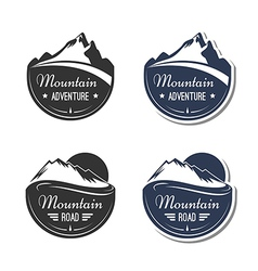 Mountain design elements vector
