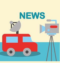 news communication relate vector image