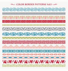 ornamental border frame vintage color patterns vector image