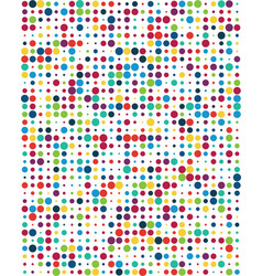 Pattern with colorful dots vector