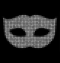 Privacy mask halftone icon vector