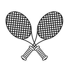 Racquet tennis related icon image vector