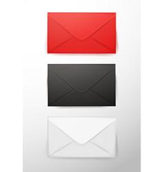 realistic 3d envelope post letter cover set vector image