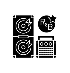 Rhythm and blues black glyph icon vector