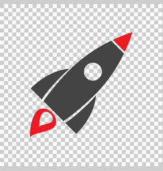 Rocket pictogram icon simple flat pictogram for vector