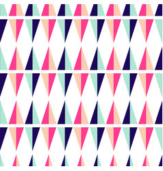 Seamless pattern with geometric triangle shapes vector