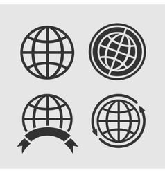 set globes vector image