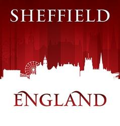 Sheffield England city skyline silhouette vector image vector image