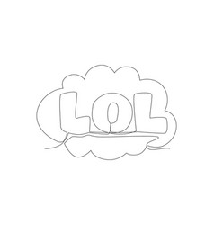 single continuous line drawing comical cute vector image