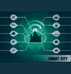 smart city background vector image