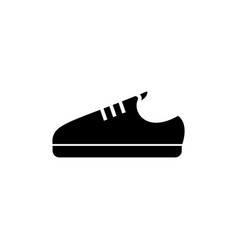 sneaker shoe icon black sign vector image