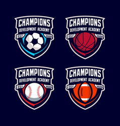 sport ball badge logo template vector image