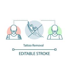 Tattoo removal concept icon vector