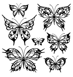 tribal butterflys vector image