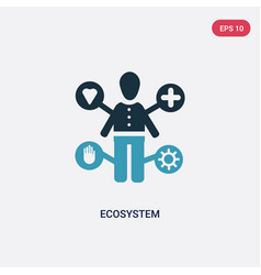 Two color ecosystem icon from people concept vector