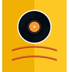 Vinyl music vintage vector
