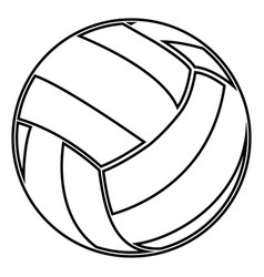 volleyball ball black color icon vector image