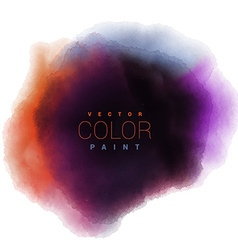 Watercolor ink paint stain drop design vector
