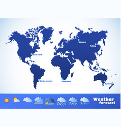weather forecast icons set vector image