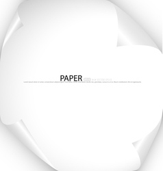 White note paper ready for your message vector image