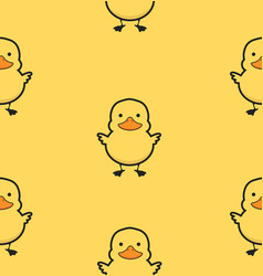 yellow duck sameless pattern vector image