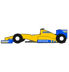 Yellow formula car vector